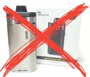 Why I'm not reviewing the Teslacigs Biturbo mech